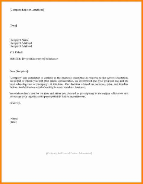 Decline Letter After 10 Exle Rejection Letter After Ledger Paper