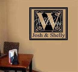 Custom Wall Decal Stickers Custom Name Monogram Letter Vinyl Decal Wall Stickers
