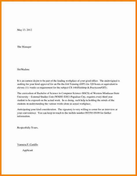 Application letter for job seeking
