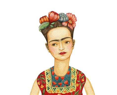 frida kahlo paper dolls frida kahlo paper doll on behance