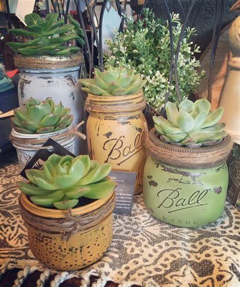 jar planters 1000 ideas about jar succulents on