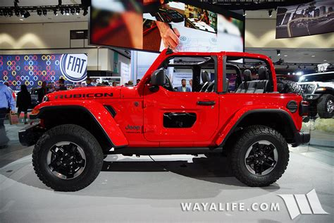 jeep rubicon 2017 2 door 2017 la auto show jeep jl wrangler red rubicon 2 door