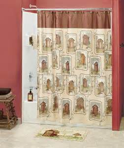 Country Bathroom Curtains Designs Spivey Charming Country Inspired Outhouse Bathroom Decor Shower Curtain Ebay