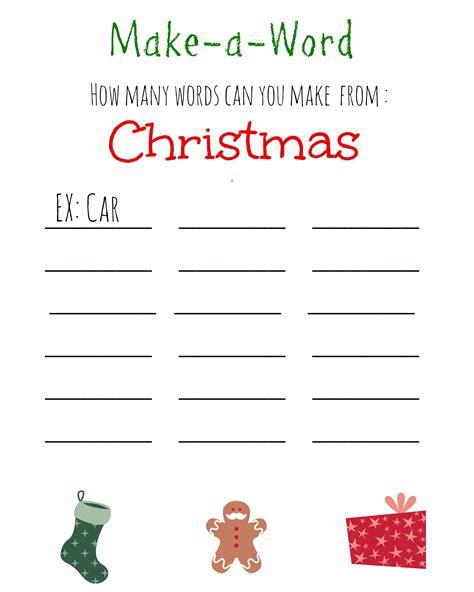 printable games for the workplace christmas make a word free printable word free free