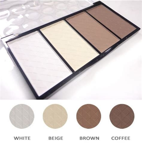 8 Colour Contour No 1 high quality makeup professional 4 colors matte bronzer highlighter powder contour palette cheek