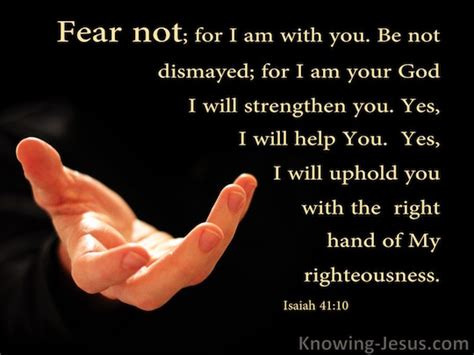 I Fear You isaiah 41 10 verse of the day