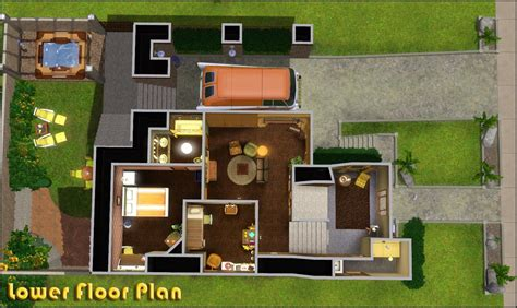 Sims 3 Family House Plans Mod The Sims Retro Realty 70s Modern Family Home