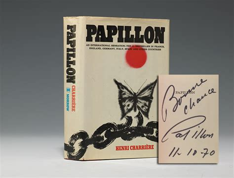 papillon edition books henri charriere papillon edition signed