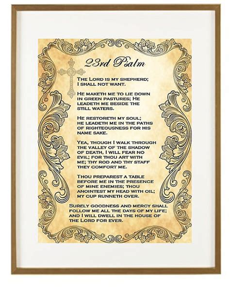 printable version 23rd psalm printable psalm 23 king james memes