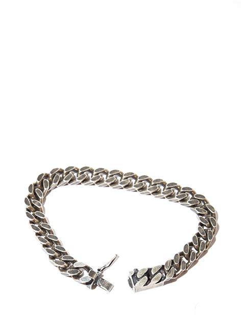 Ln C Kirana Bracelet Silver lyst laurent mens silver chain bracelet in