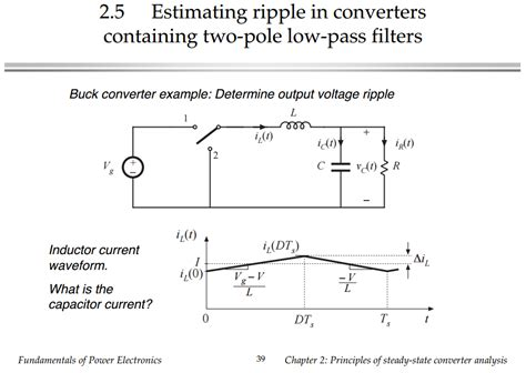 peak inductor current in buck converter circuit analysis capacitor voltage ripple in buck converter electrical engineering stack
