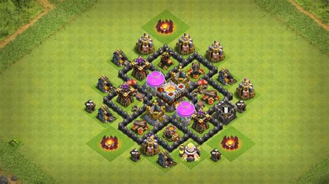 clash of clans town hall 5 farming defense best base layout undefeated town hall 5 th5 trophy farming base