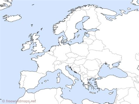 map of europe map europe outline maps by freeworldmaps net