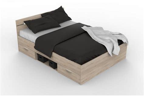 letto 140x200 cama de 2 cajones 1 hueco de 140x200 en color roble
