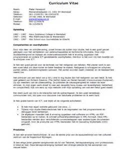 Cv Template Engels Sollicitatiebrief Administratief Medewerker