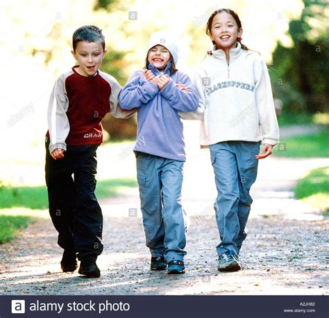 soap two girls and one boy three children walking in the woods wearing casual walking clothes stock photo 3438977 alamy