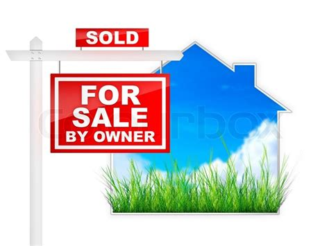 real estate sign for sale by owner 2d artwork computer