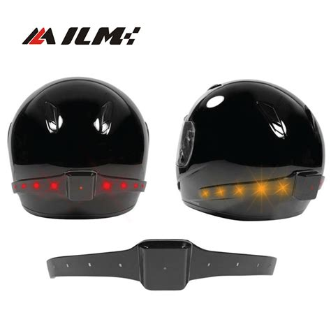 Motorcycle Helmet Light wireless motorcycle motocross atv racing helmet led safety light with running lights brake