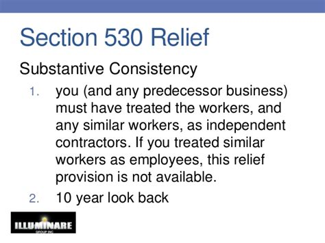 section 530 relief independent contractor or common law employee 2013