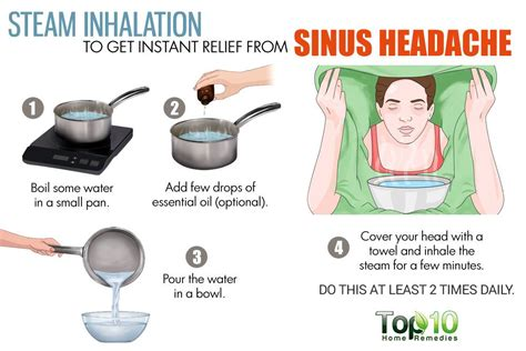 how to get rid of a sinus headache top 10 home remedies