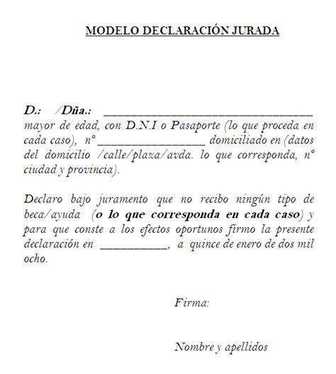 declaracion jurada personal declaraci 243 n jurada