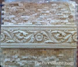 Kitchen Tile Designs Behind Stove Split Face Travertine Tile Backsplash The Diy Village