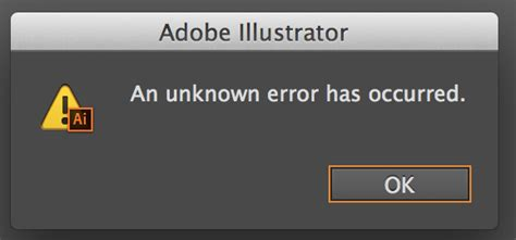 adobe illustrator cs6 unknown error when saving illustrator cannot save an unknown error has occurred