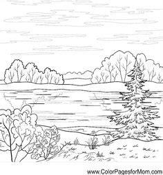 advanced landscape coloring pages advanced landscape pages for adults coloring pages