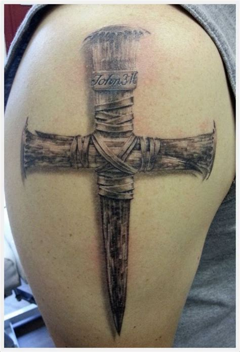 large cross tattoos 49 cross shoulder tattoos