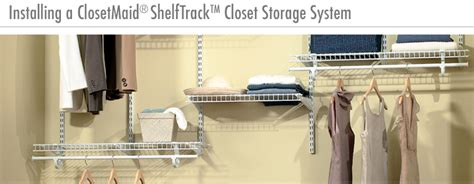 Closetmaid Track System Installation How To Install A Closetmaid Shelftrack Closet Storage
