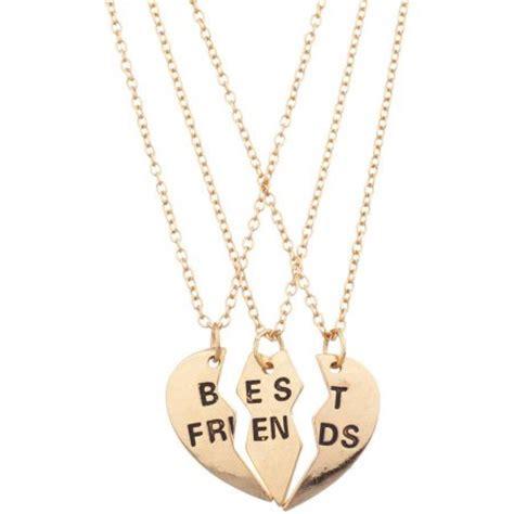 best friends necklace set 3 walmart