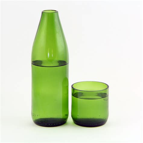 Next Chagne Flutes In Vase by Vases And Glasses From Recycled Bottles The