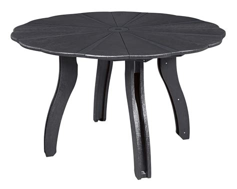 52 dining table generations black 52 quot scalloped dining table from cr