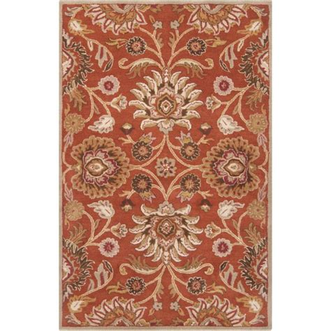 5 X 9 Area Rug Artistic Weavers Amanda Rust Wool 5 Ft X 7 Ft 9 In Area Rug The Home Depot Canada