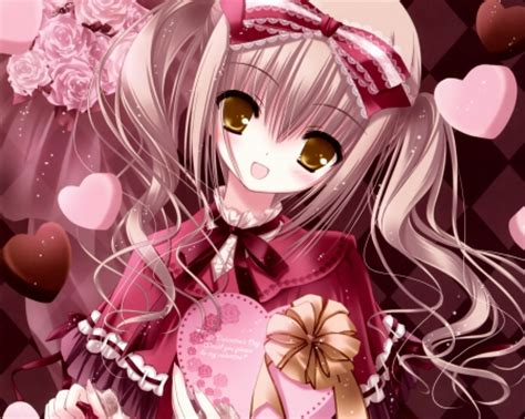 Anime Girl Day Happy Valentine Day Other Anime Background Wallpapers