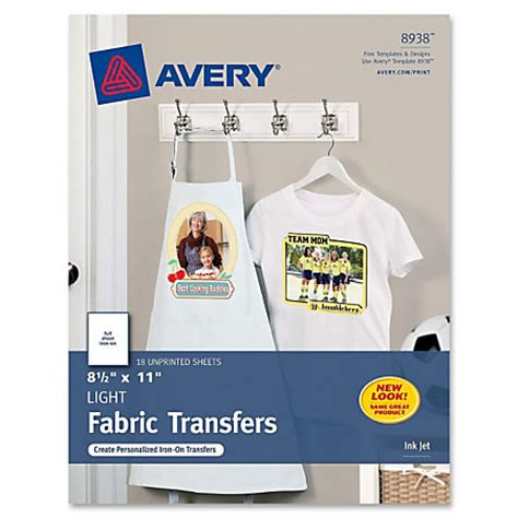 Letter Transfer Paper Avery Iron On Transfer Paper Letter 8 50 X 11 Matte 18 Pack White By Office Depot Officemax
