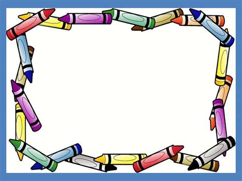 Crayon Border Frame Free Ppt Backgrounds For Your Powerpoint Templates Free Border Templates For Powerpoint