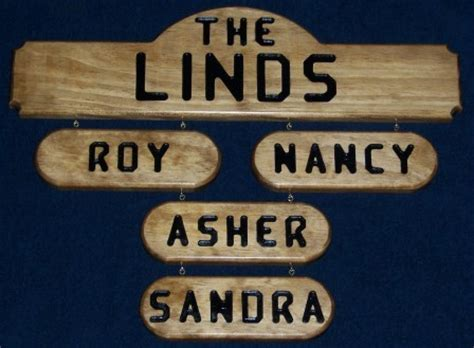 personalized family name sign plaque wood nook