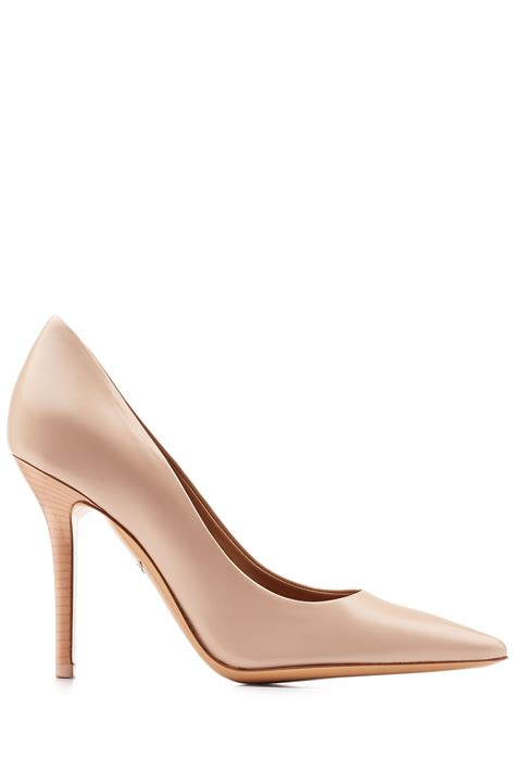 ferragamo high heels ferragamo high heel leather pumps beige in beige save