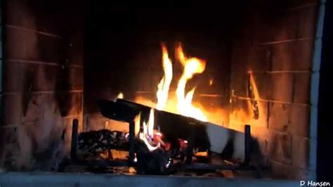 1 hour burning logs in fireplace in hd