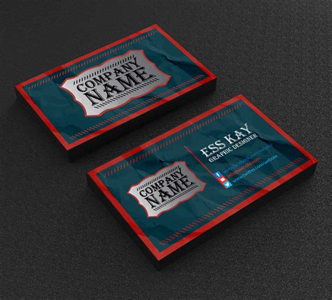 Vintage Business Cards Templates Free by Free Business Cards Psd Templates Print Ready Design