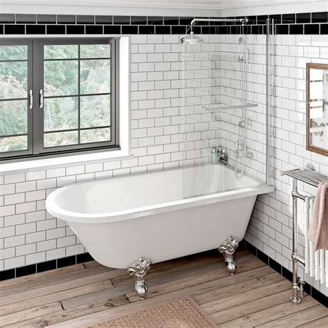 roll top bath shower screen shower screen single ended roll top bath traditional panelled cottage bathroom best free