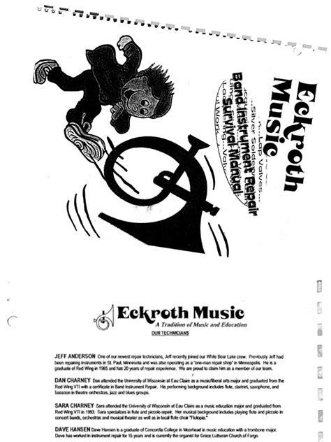 Repair Book (Eckroth Music)   Brass Instruments   Trombone