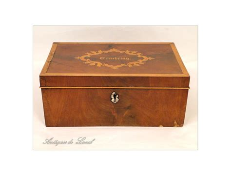 sewing box or cabinet in mahogany and cherry 19th