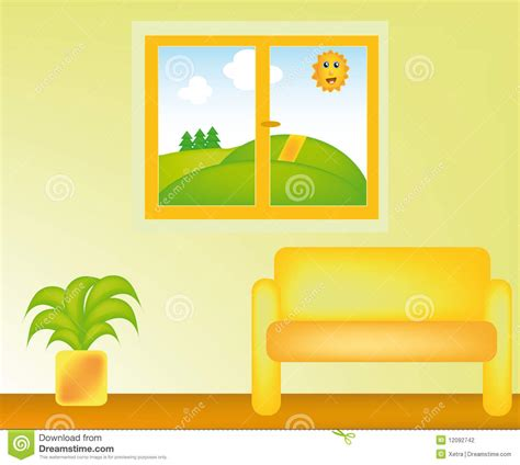 Living Room Vector Free Vector Livingroom Stock Photography Image 12092742