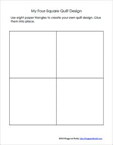 four square template geometry for quilt activity using triangles free