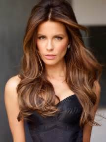 Sexy long brunette hair with highlights pretty designs