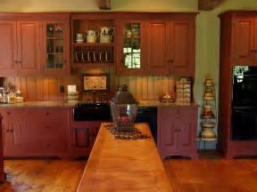 Woodworking Kitchen Cabinets Historical Barn Red Kitchen