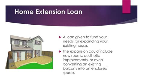 loan for house extension ppt different types of home loans powerpoint presentation id 7176191