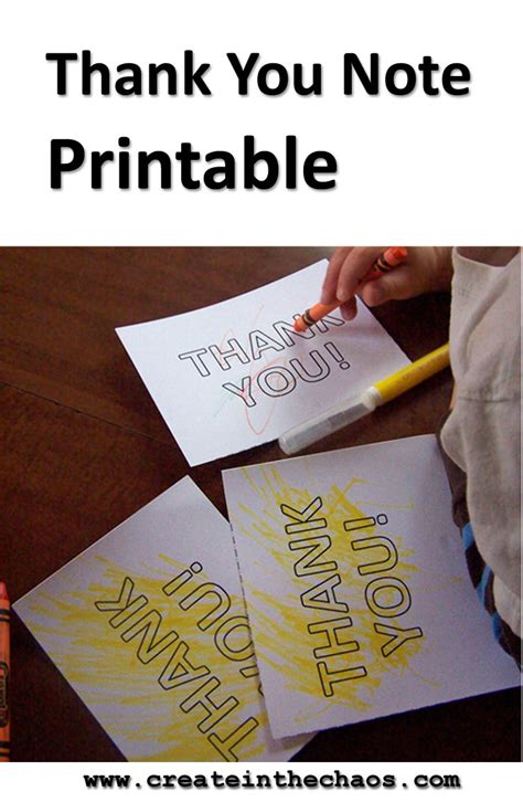 free thank you note printable create in the chaos